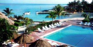 Pool View of the Presidente Inter-Continental Resort of Cozumel